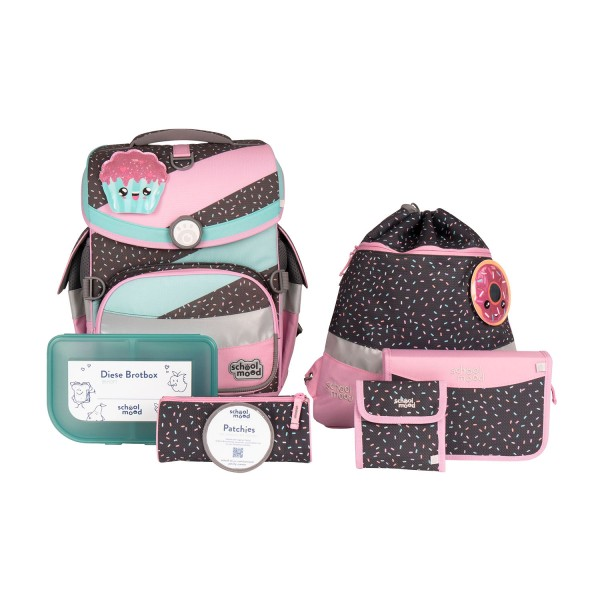 Schulranzenset School Mood Timeless Air Plus Ida (Cupcake) 7tlg.