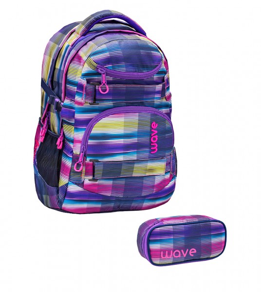 Schulrucksack-Set1 Wave Infinity Colorful ca.30L 2tlg.