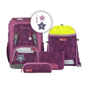 Schulrucksack-Set Step by Step Giant Glamour Star 5tlg.