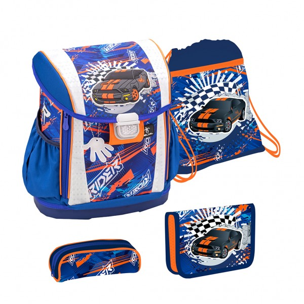 Schulranzen-Set 4tlg. Belmil Customize me Speed Racing