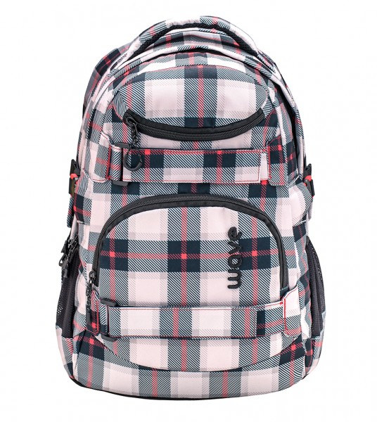 Schulrucksack Wave Infinity Grey/Red Pattern ca.30L
