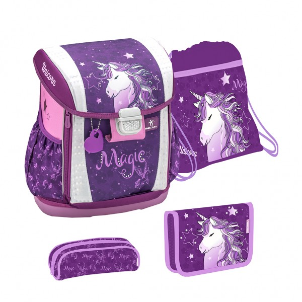 "Schulranzen-Set 4tlg. Belmil ""Customize me"" Unicorn Dreams"