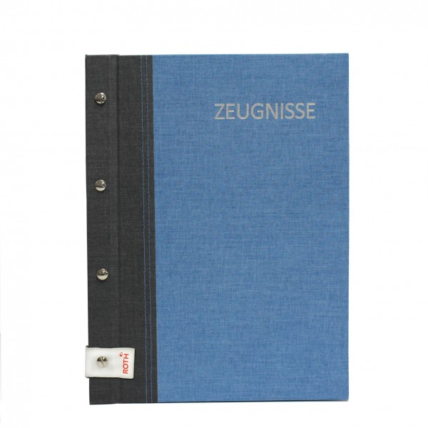 Zeugnismappe A4 Bicolor grey-denim blue Roth 88562