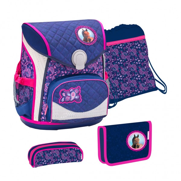 Schulranzen-Set 4tlg. Belmil Cool Bag Blue Riding Horse