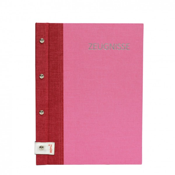 Zeugnismappe A4 Bicolor cherry-pink Roth 88559