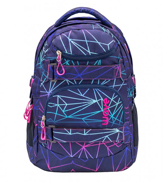 Schulrucksack Wave Infinity Purple Stripes ca.30L