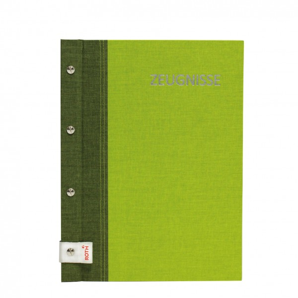Zeugnismappe A4 Bicolor olive-green Roth 88560