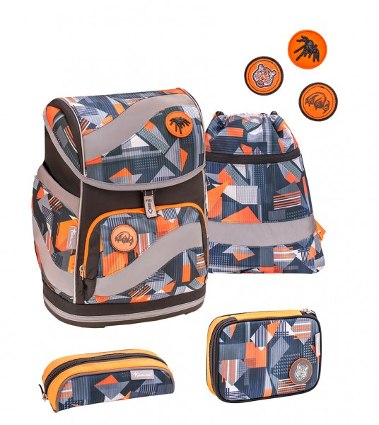 Schulranzen-Set Belmil Smarty Wild World 5tlg.