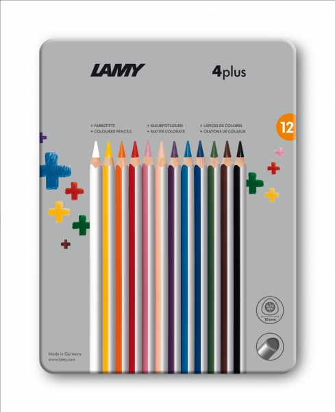 LAMY FARBSTIFTE 4 PLUS 12 ER METALLBOX